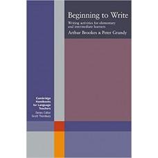 Beginning to Write: Writing Activities for Elementary and Intermediate Learners الكتب الأجنبية